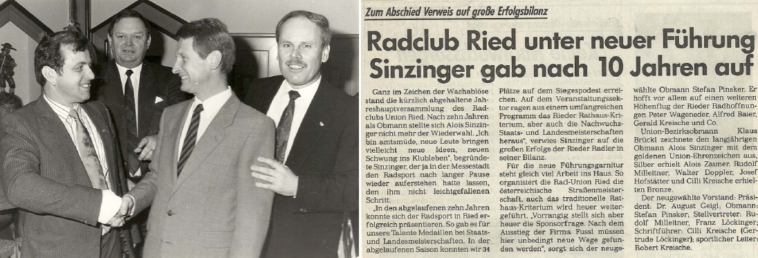 1988 Obmannschaftsübergabe Sinzinger - Pinsker